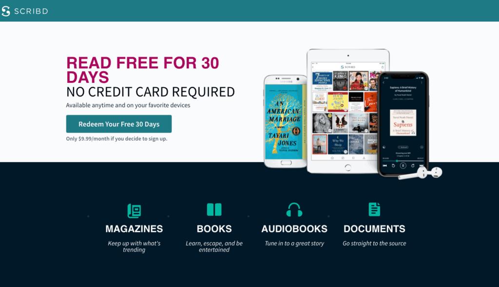 Scribd free 30 days
